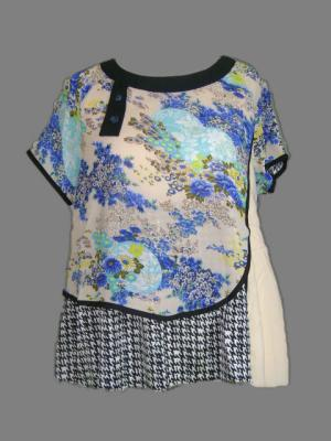 Blouse multimatieres