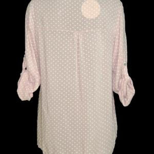 Chemise coeurs rose