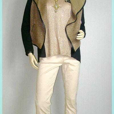 Ensemble fashion beige