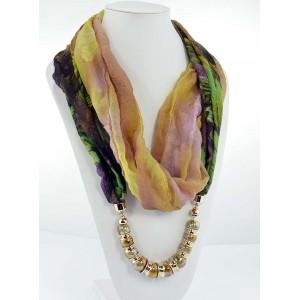 Foulard collier multicolore