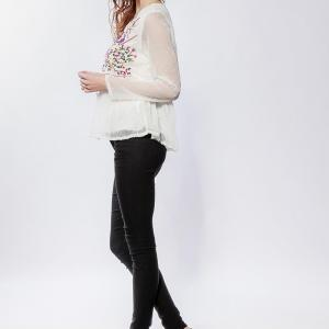 Lilie rose blouse en plumetis1 white 1