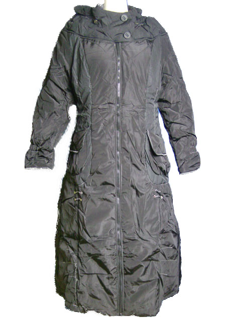 Manteau long col chale