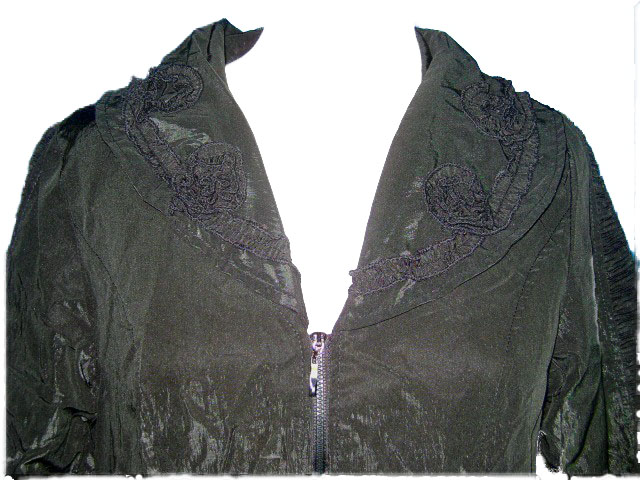 Manteau noir detail 1