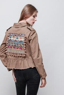 Misskoo veste sequin mi saison brown 1