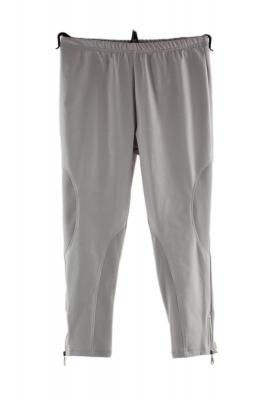 Pantalon leggings gris zip