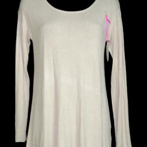 Pull beige dos voile