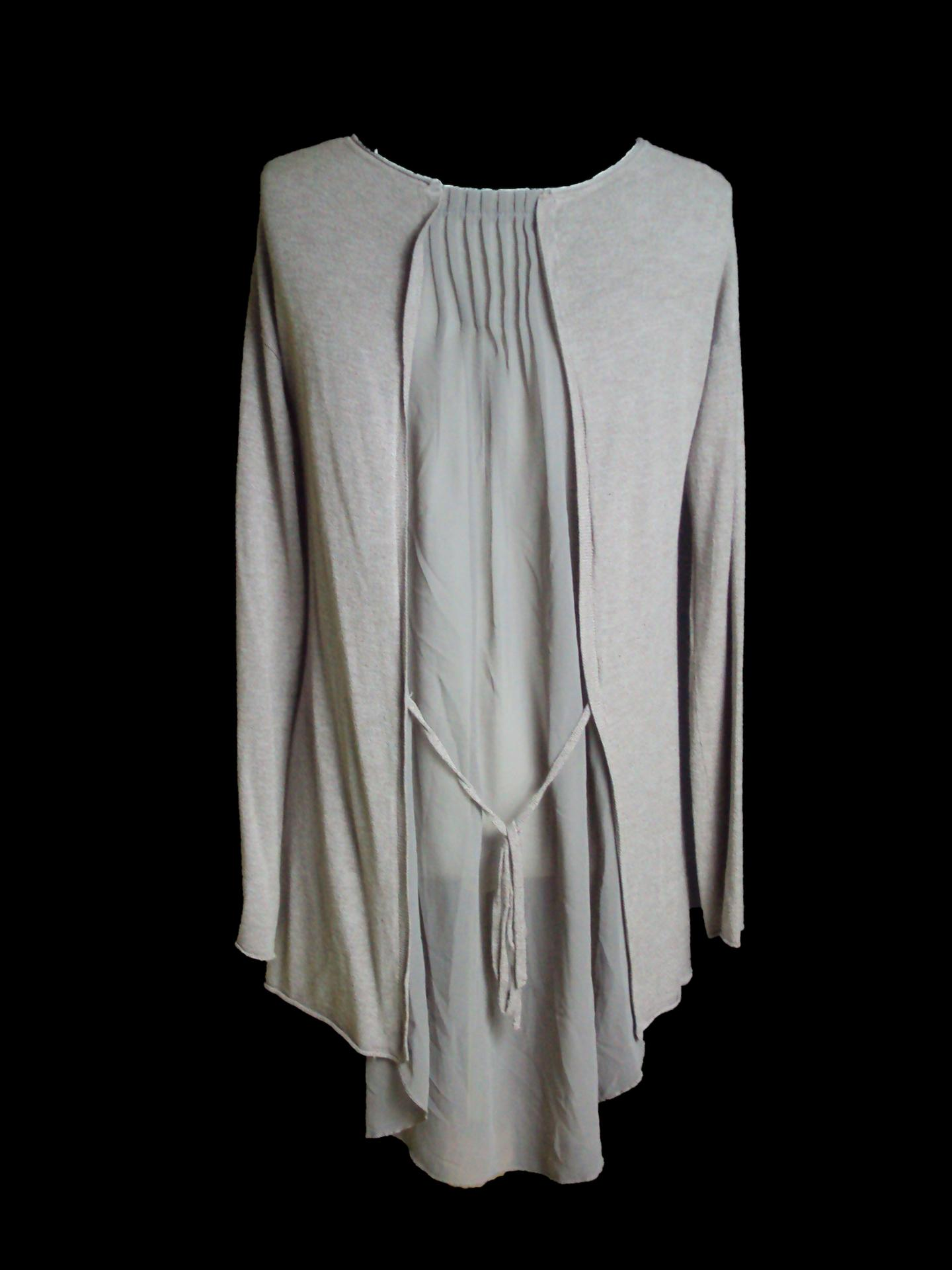 Pull voile taupe