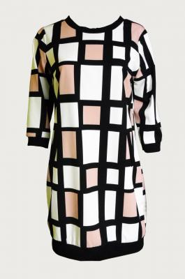Robe carreaux mondrian