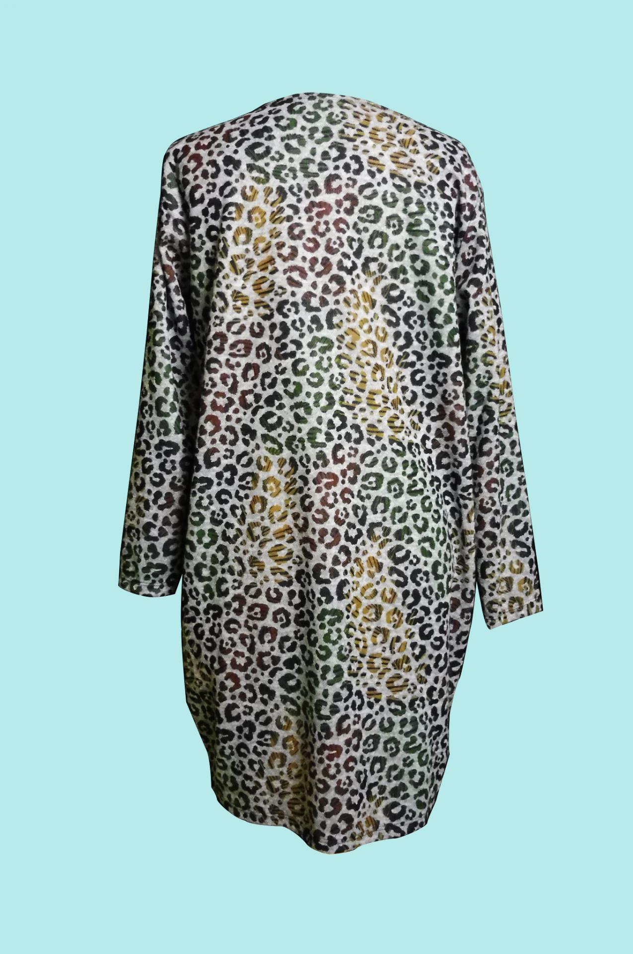 Robe grande taille panthere