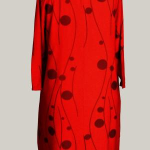 Robe grandetaille rouge