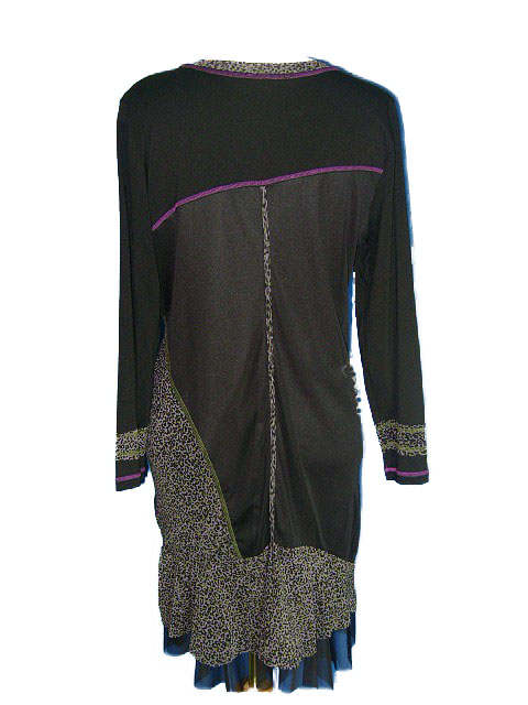 Robe orchidee grande taille pas chere dos 1