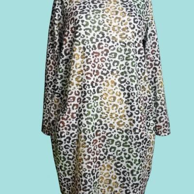 Robe panthere grande taille