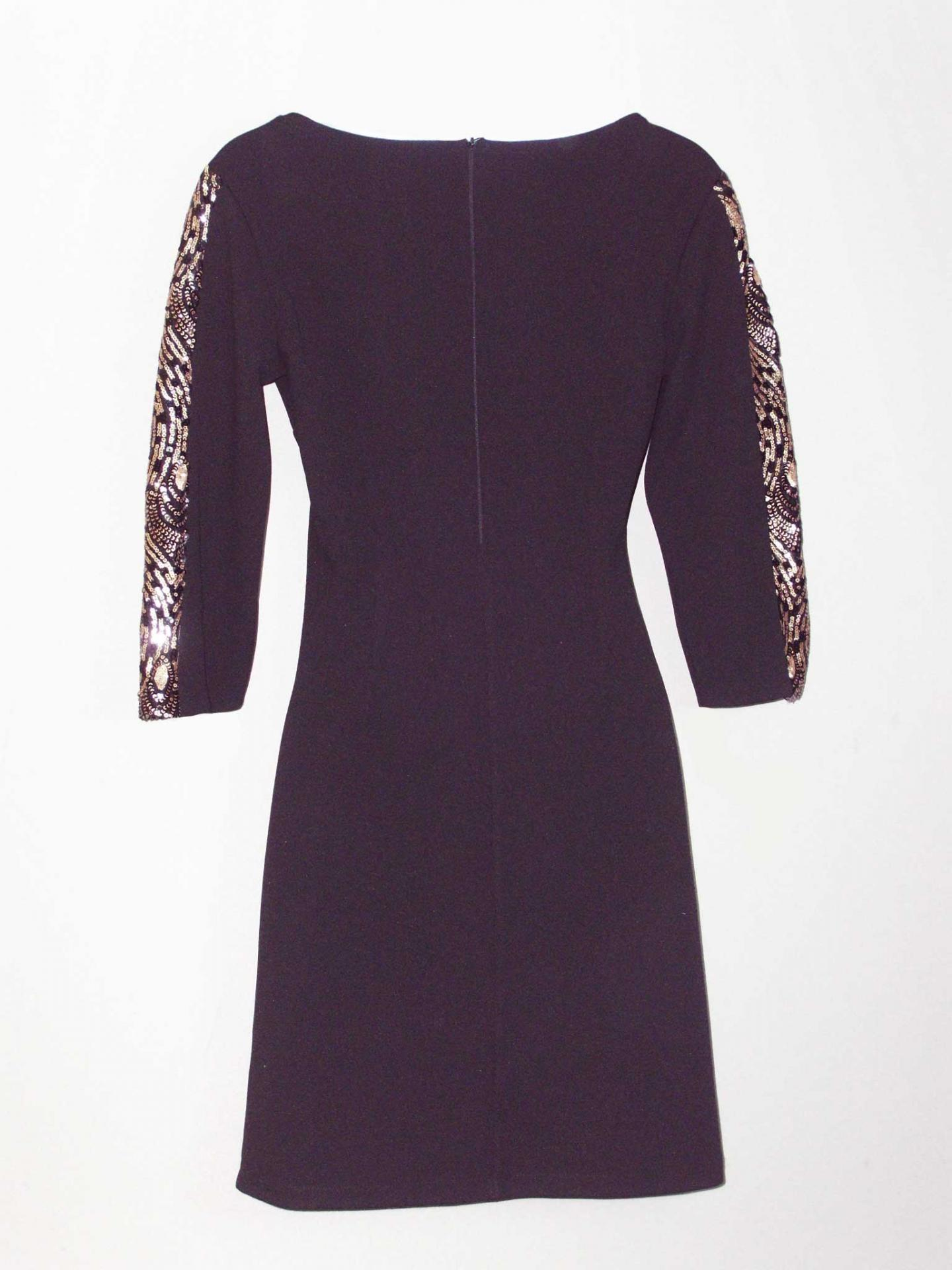 Robe soiree manches sequins