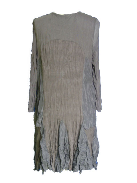 Robe taupe grande taille