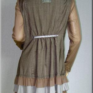 Robe tunique marron