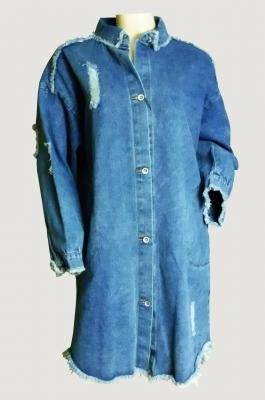 Robe veste denim