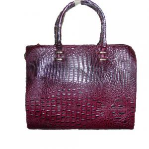 Sac bordeaux croco