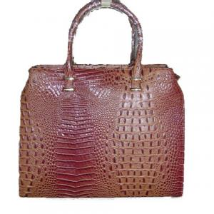 Sac croco camel degrade