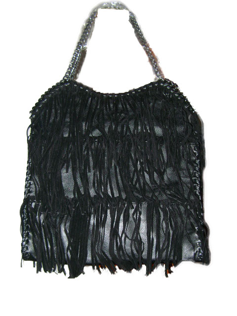 Sac franges noir fashion