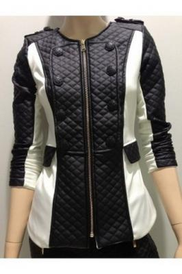 Veste blanc noir fashion