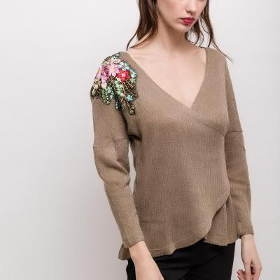 Virginie et moi pull3 taupe 2